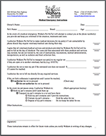 Medical Emergency Form